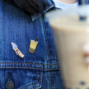 Milk Tea Boba Enamel Pin