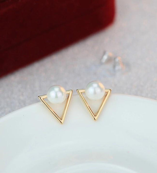 Tri-Pearl Earrings