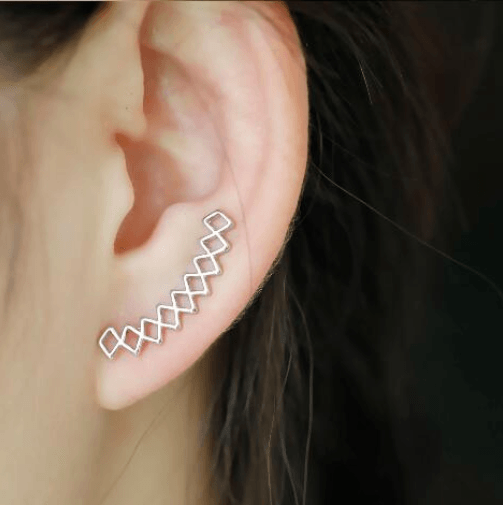 Geometric Crawling Earrings