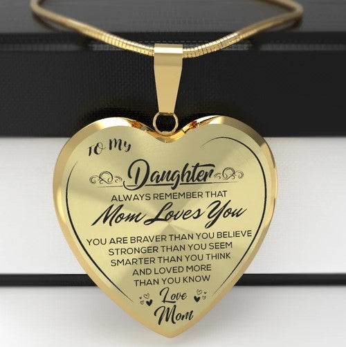 To My Daughter Heart Necklace