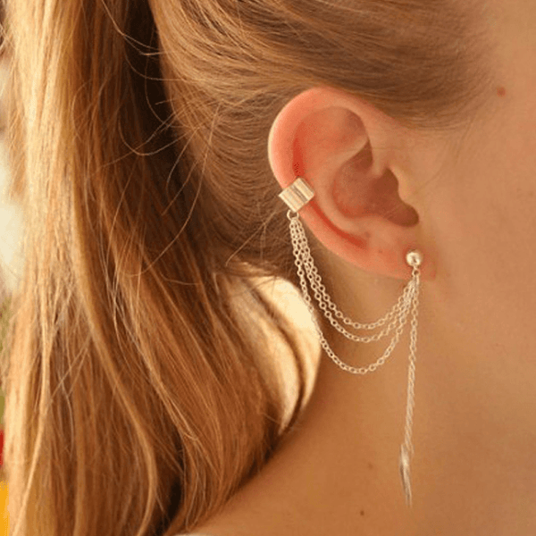 Leaf Clip On Earrings