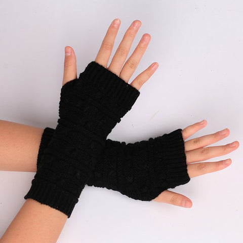 Pair of Knitted Fingerless Gloves-Algoma