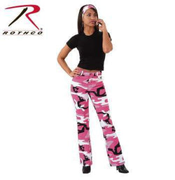 Rothco Womens Camouflage Stretch Flare Pants - Pink - Ships From U.S. - Algoma