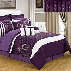 Lavish Home 24 Piece Room-In-A-Bag Amanda Bedroom - Queen-Algoma