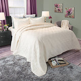 Lavish Home Andrea Embroidered Quilt 3 Pc. Set - King-Algoma