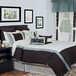Lavish Home 24 Piece Room-In-A-Bag Bedroom Annette - Queen-Algoma