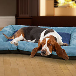 "PETMAKER 24""x19"" Plush Cozy Pet Bed - Blue-Algoma"