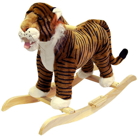 HAPPY TRAILS Tiger Plush Rocking Animal