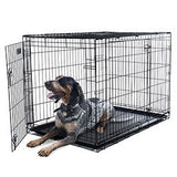 PETMAKER X-Large 2 Door Foldable Dog Crate Cage - 42 x 28 Inch-Algoma