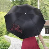 Trademark Home Wine Bottle Umbrella - Black & Red-Algoma