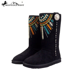 Montana West Embroidered Collection Boots-Algoma