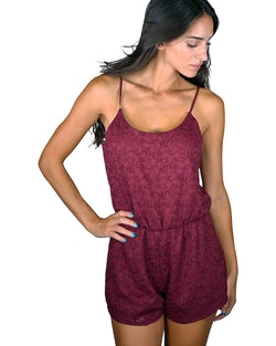 Lace adjustable strap romper - 5 Color Choices - Ships From U.S.