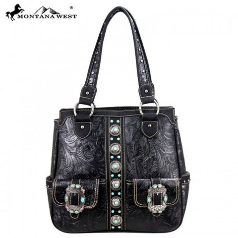 Montana West Western Concho Collection Handbag