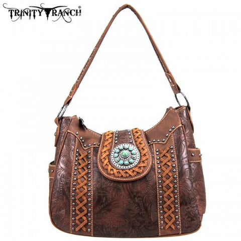 Montana West Trinity Ranch Buckle Collection Handbag