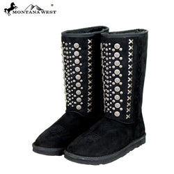 Montana West Studs Collection Boots-Algoma