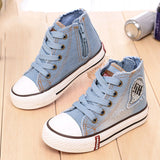 Kids Blue Jean Fashion High Tops-Algoma
