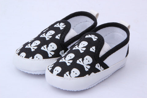 Baby Girl /Boy Skull Canvas Walkers - 3 Color Options