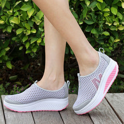 Women Height Increasing Casual Shoes-Algoma