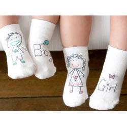 1Pair Infant Soft Non-slip Boot Cuff Slippers Socks