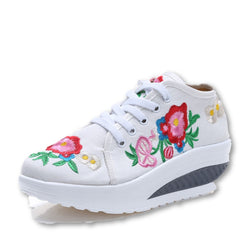 Embroidered Floral Women's Shoes-Algoma
