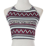Women Crop Top High-Neck Halter-Algoma