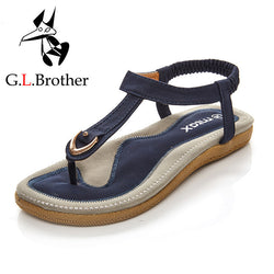 G.L.Brother PU Leather Ankle Straps Sandals-Algoma
