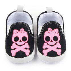 Casual Baby Skull Pattern Soft Sole Cotton Shoes 0-12 Months-Algoma