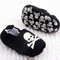Baby Skull Pirate Printed Soft Bottom Cotton Crib Shoes