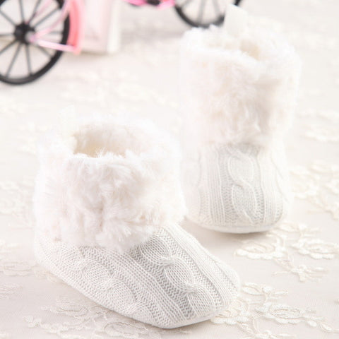 Baby Crochet Soft Sole Booties-Algoma