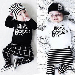 Baby Boy Cotton Long Sleeve t-shirt+pants 2pcs suit-Algoma