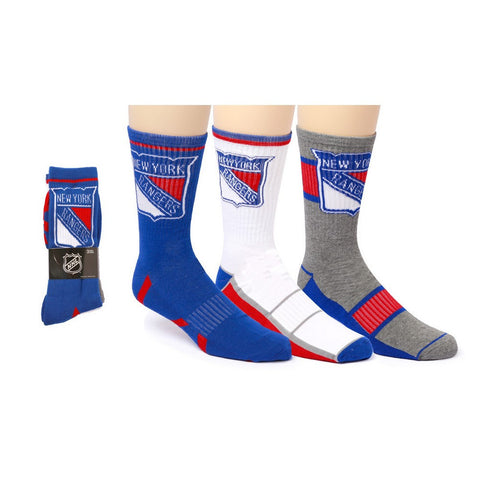 New York Rangers Crew Socks | x 3-Algoma