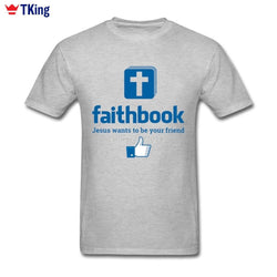 New Jesus Wants To Be Your Friend Faithbook T Shirt-Algoma