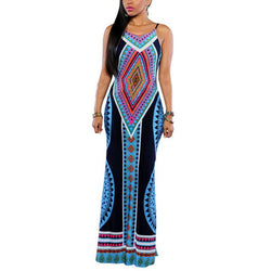 Women Maxi Dress Bodycon-Algoma