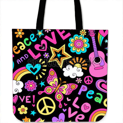 Peace Design Cloth Tote Bags-Algoma