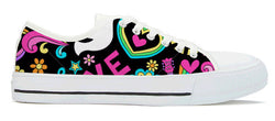 peace sign canvas shoes