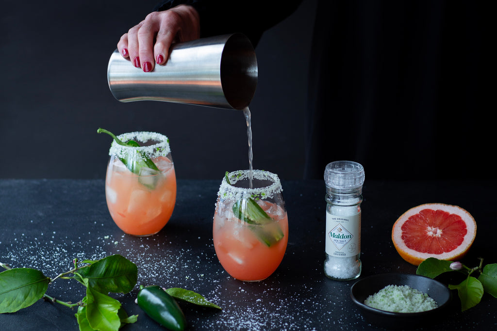 Salty Spicy Pink Grapefruit Cocktail Recipe