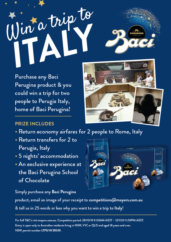WIN a trip to Italy... Winner announced!