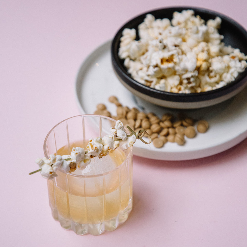 Brix Gold, Callebaut & Buttered Popcorn Cocktail