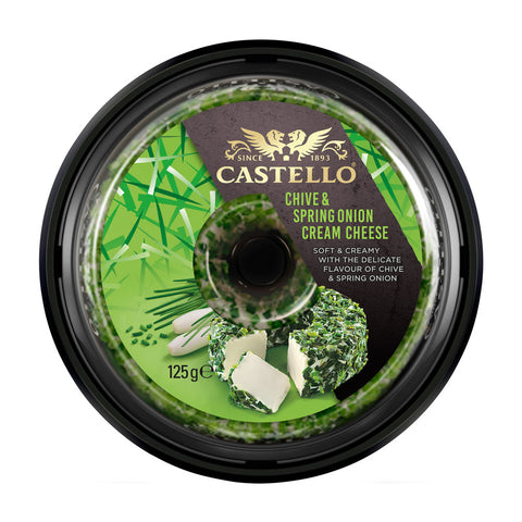 Castello Chive and Spring Onion Cream Cheese 10x125g