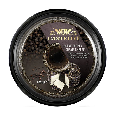 Castello Black Pepper Cream Cheese 10x125g