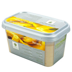 Ravifruit Frozen Fruit Puree Banana 5x1kg Tub