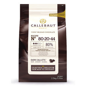Callebaut Dark Couverture - Powerful Cocoa Solids Callets 80% (8 x 2.5kg Bag)