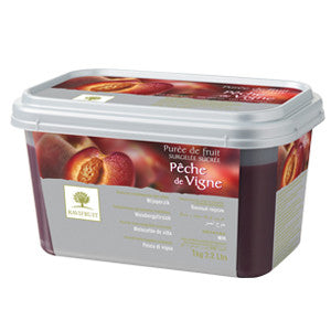 Ravifruit Frozen Fruit Puree Ruby Peach 5x1kg Tub