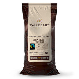 Callebaut Dark Couverture Fairtrade Callets 54.5% 2x10kg Bag