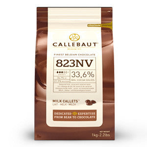 Callebaut Milk Couverture Callets 33.6% 6x1kg Bag