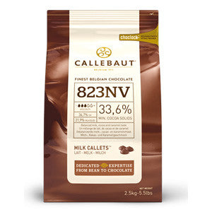 Callebaut Milk Couverture Callets 33.6% 8x2.5kg Bag
