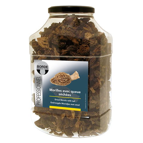 Borde Dried Morels with Tails 6x500g