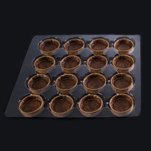 La Rose Noire Tart Shells, Chocolate Medium Round 96x12g