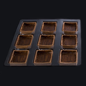 La Rose Noire Tart Shells, Chocolate Large Square 45x28g