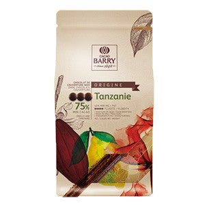 Cacao Barry Origin Tanzanie Couverture 75% 6x1kg Pistols